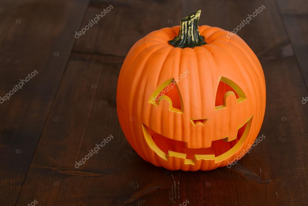 Plast halloween pumpa dekoration — Stockfotografi © mcgphoto  87860930 c66e0c90440e6