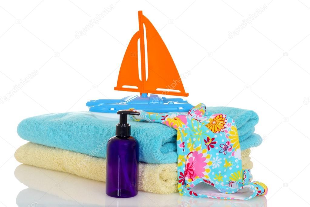 Costumi Da Bagno Per Bambino : Giocattolo di asciugamani di costume da bagno bambino pronta per
