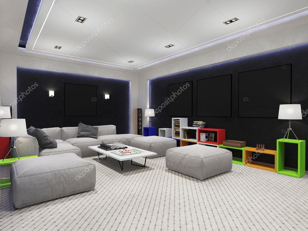 Interieur speelkamer met een bank u stockfoto sanya