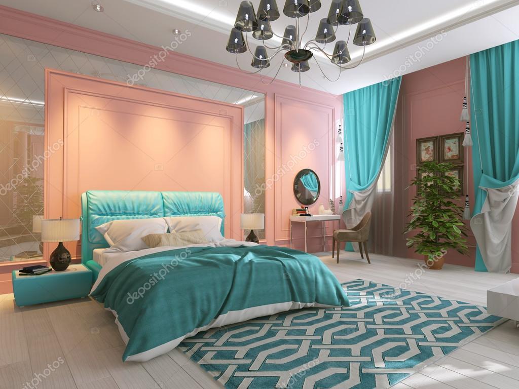 Pareti Rosa Camera Da Letto : Interno camera da letto nel colore rosa u foto stock sanya