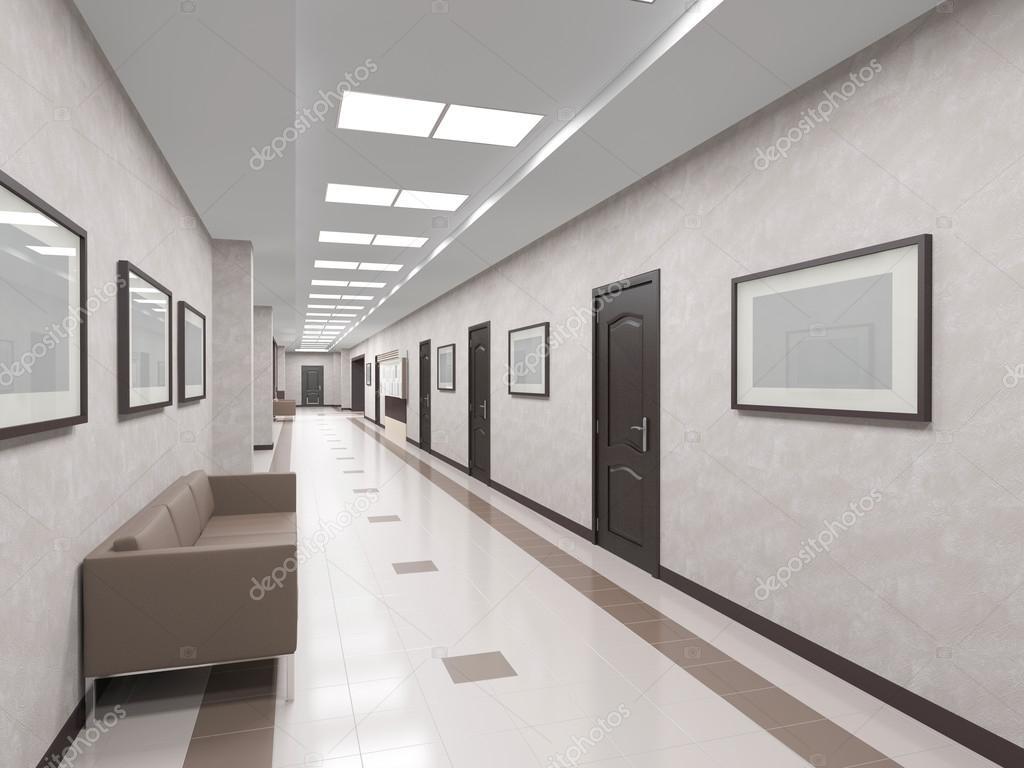 Decoratie Interieur Corridor : Interieur gang met deuren u stockfoto sanya