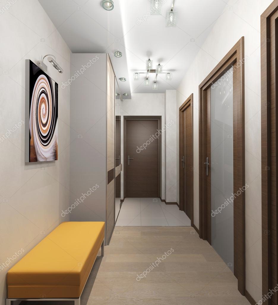 intérieur avec des portes dans l\'appartement — Photo #84132904