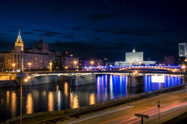 Moscow River and the White House