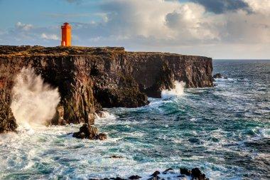 Lighthouse at coast