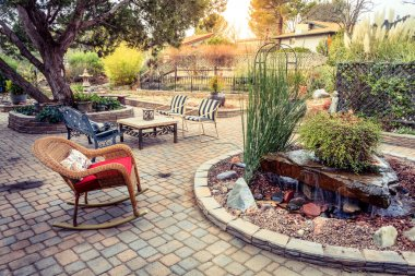 patio in a tranquil garden