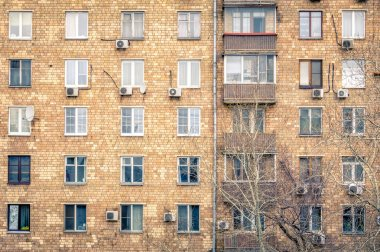 Windows in a residential building