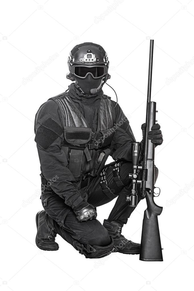 oficial de policía de Swat — Foto de stock © zabelin #86373286