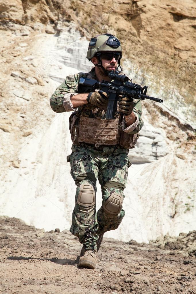 Navy SEAL team — Stock Photo © zabelin #96329594