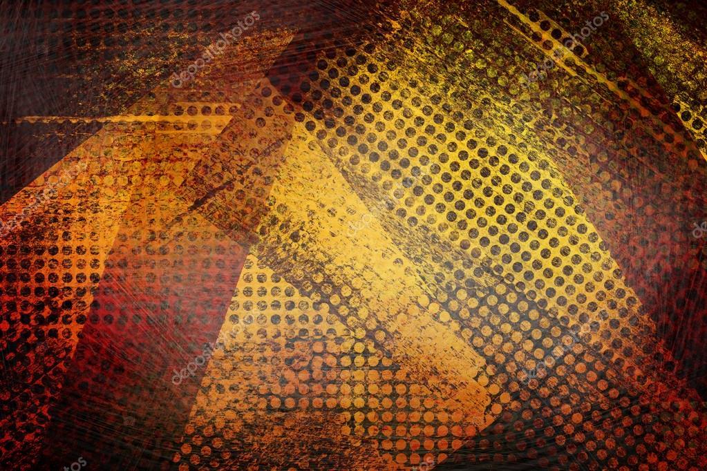 Fondo Fondos Abstractos Rojo Y Amarillo: Fondo Rojo Y Dorado Amarillo Abstracto Grunge Patrón