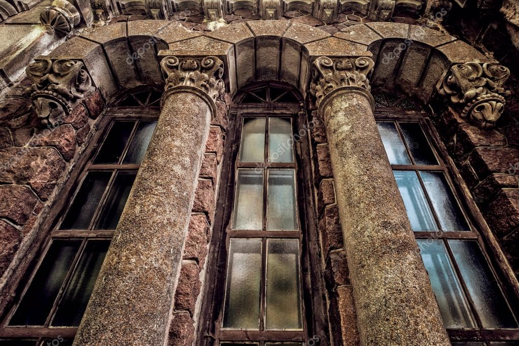 Gothic windows with columns