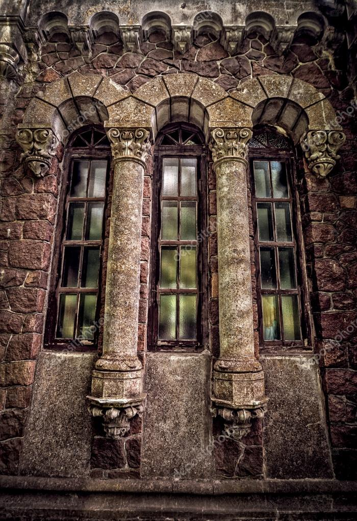 Gothic windows with columns