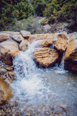 cold Beautiful Waterfall