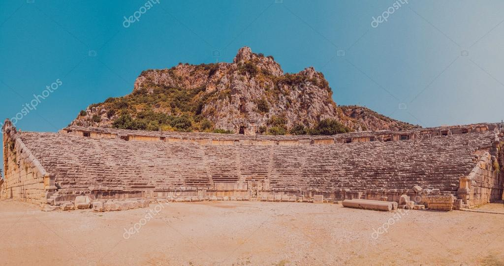 Ancient ruined amphitheater