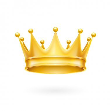 Royal golden crown