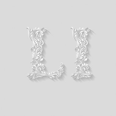 Decorated floral letter l
