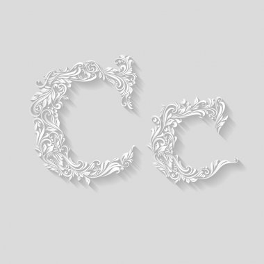 Decorated floral letter c