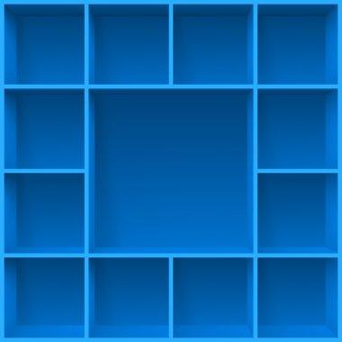 Shelves design template