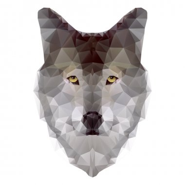 Head of wolf triangles