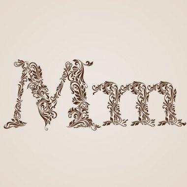 Decorated letter m