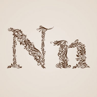 Decorated letter n