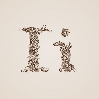 Decorated letter i