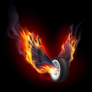 Ateş kanatlı tekerlekli