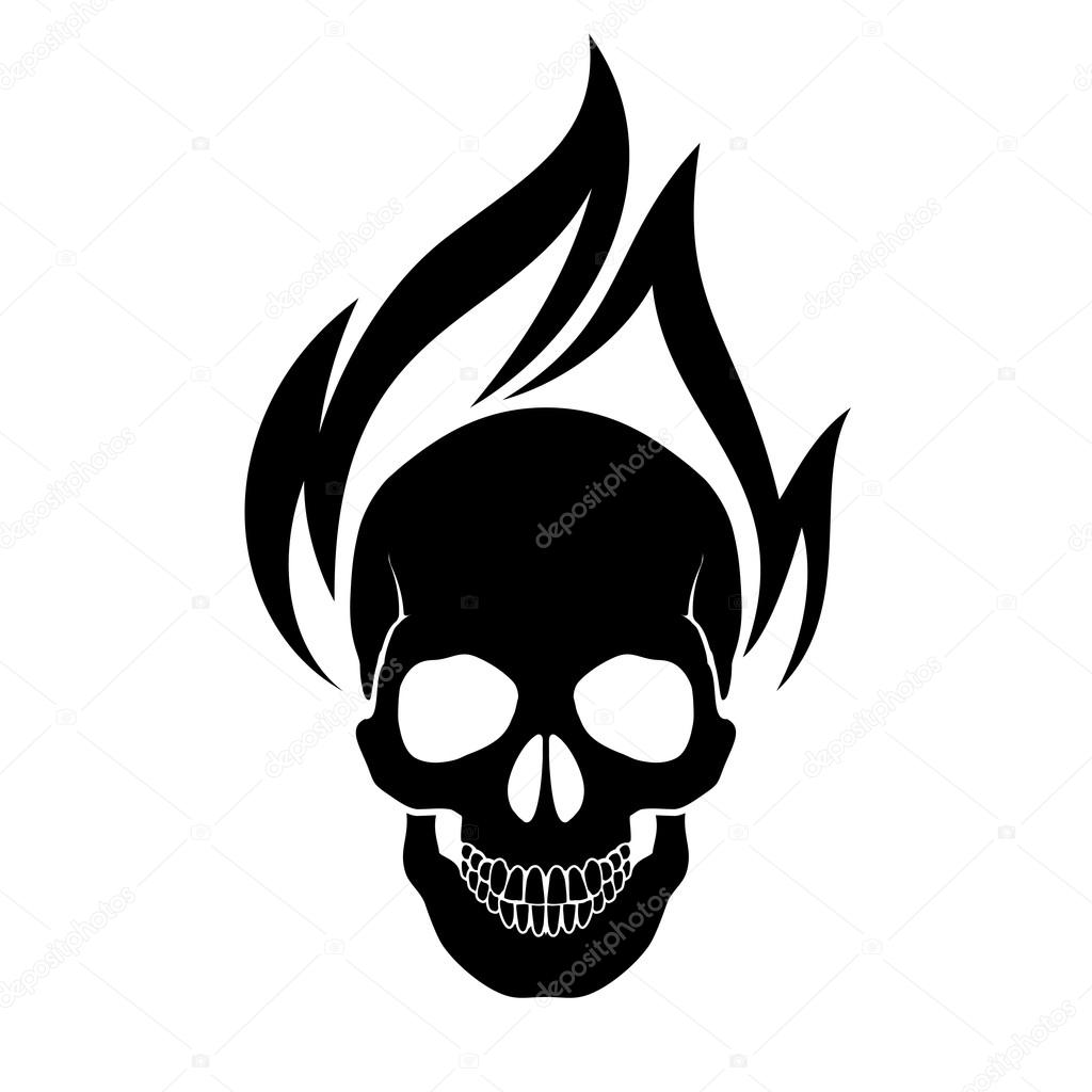 Skull on fire — Stock Vector © dvargg #95531884