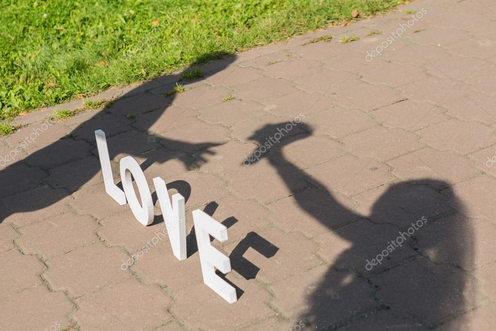Shadows of love couple