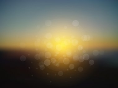 Vector abstract sun holiday blurred background
