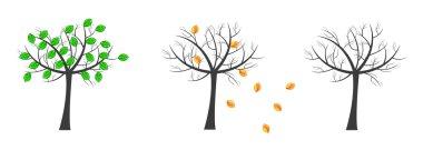 Vector tree background