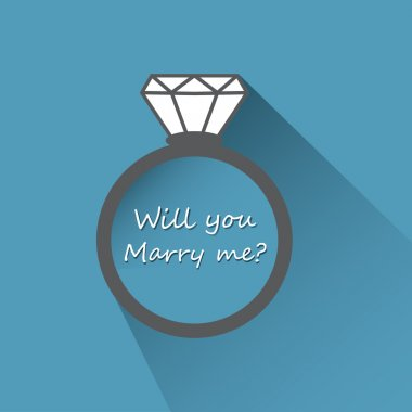Will you marry me ring sign icon.