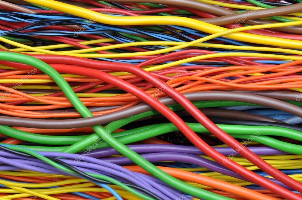 Colored electrical cables and wires — Stock Photo © Zetor2010 #54344307
