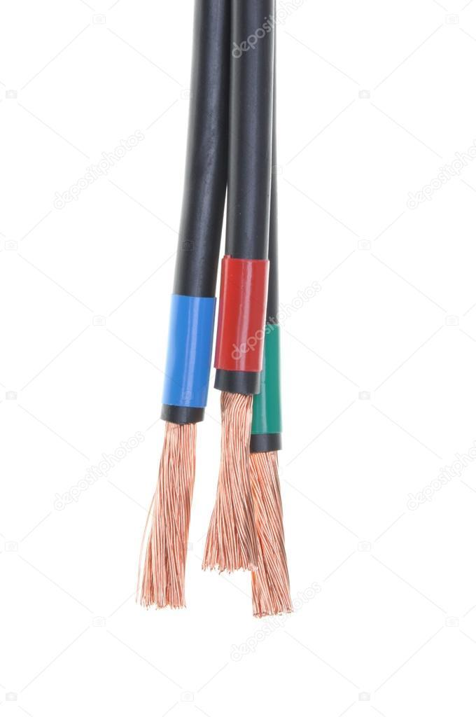 Kabel in elektrische Verdrahtung installation — Stockfoto ...