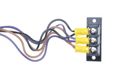 Electrical cables with terminal block