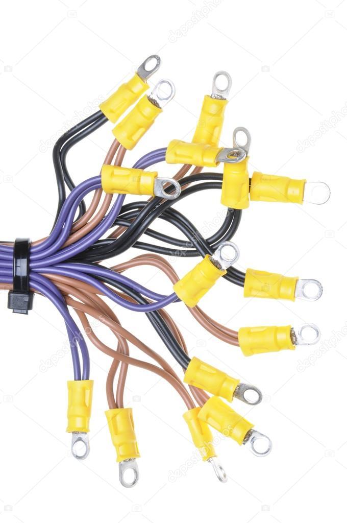 Kabel mit Klemmen in elektrische Verdrahtung System verwendet ...