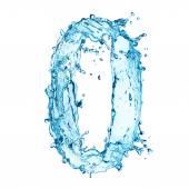 Photo Water splashes number