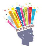 Koncept psychologie s pocity optimistický a pozitivní myšlení