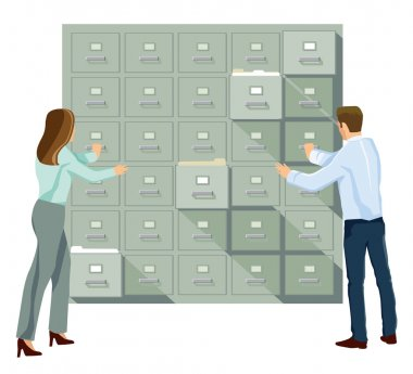 File cabinet in the office