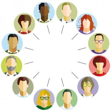 Employees Community stock vector