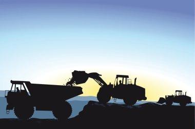 Bulldozer during earthworks