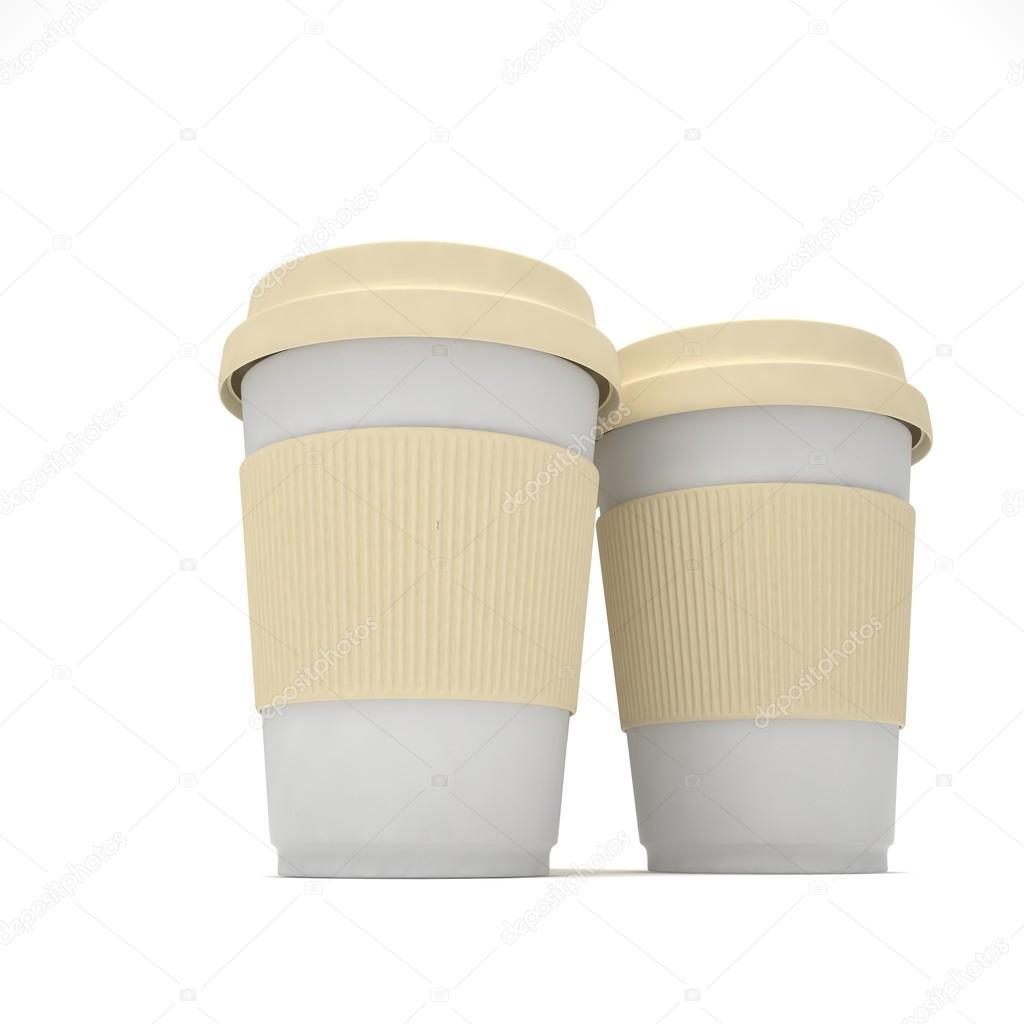 3d Coffee To Go Cups Stock Photo Merznatalia 103675172