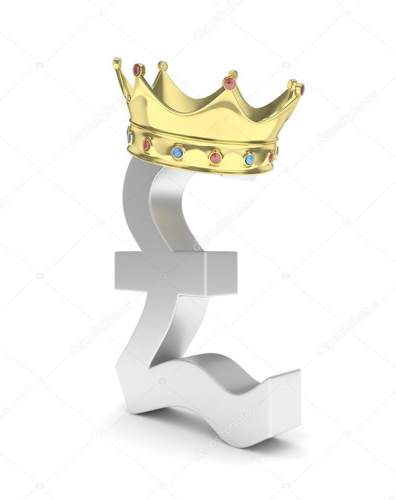 Pound Sign With Crown Stock Photo Merznatalia 113446734