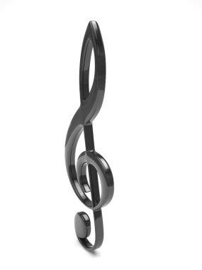 Treble clef 3d