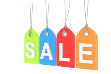 sale labels with letters