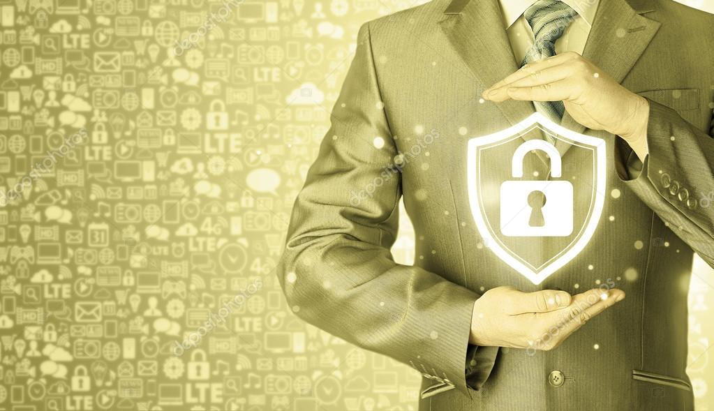 afa19c84d1604 Conceito de segurança empresarial — Stock Photo © merznatalia  114862912