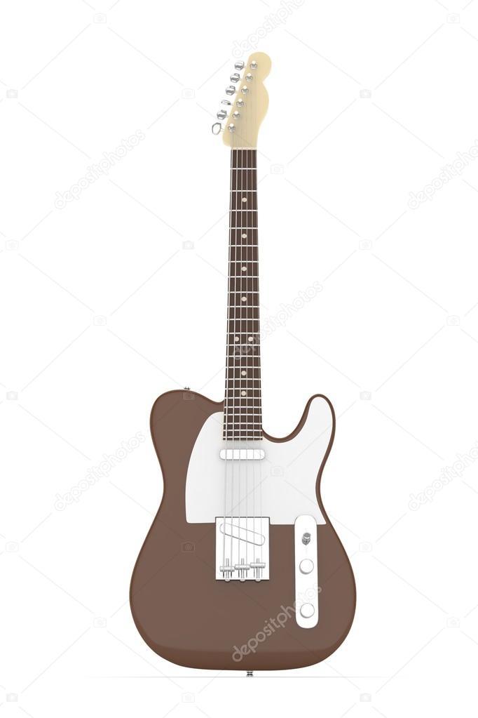 Isolierte elektrische Gitarre auf weiß — Stockfoto © merznatalia ...