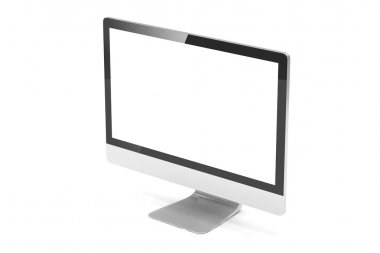 Modern Screen Monitor. 3d rendering stock vector