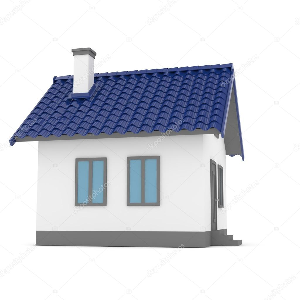 3D Haus Mit Dach U2014 Stockfoto