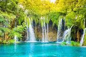 Krásná vodopád krajina.