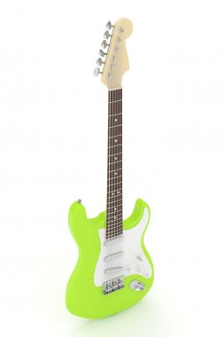 lime green electric guitar